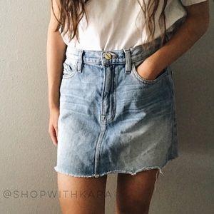 FRAME Denim Le Mini Ryde Jean Skirt